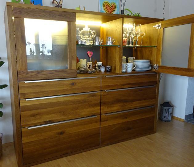 highboard holz eiche ger uchert massiv altholz dunkel nussbaum modern rustikal nach. Black Bedroom Furniture Sets. Home Design Ideas