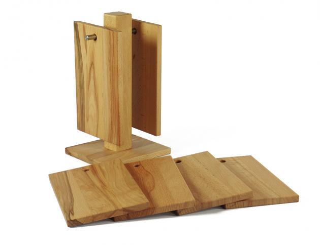 vesperbrett schneidebrett holz st nder halterung 6 aus kernbuche rustikal vesperbrett. Black Bedroom Furniture Sets. Home Design Ideas