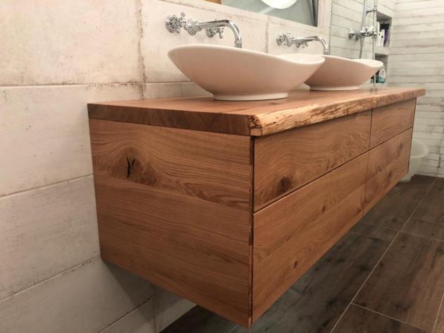waschtischunterschrank aus holz rustikal massiv eiche waschtisch unterschrank holz. Black Bedroom Furniture Sets. Home Design Ideas