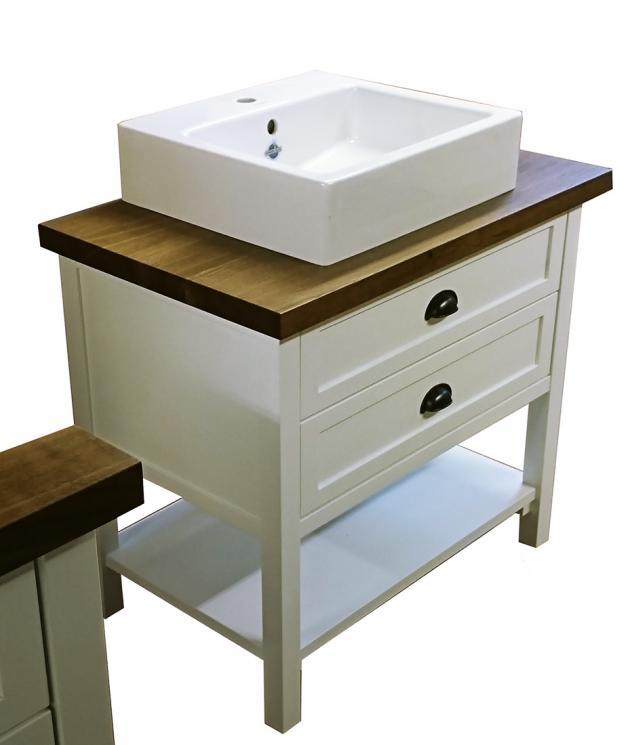 waschtisch im landhausstil wei shabby chic look landhaus klein waschtischunterschrank. Black Bedroom Furniture Sets. Home Design Ideas