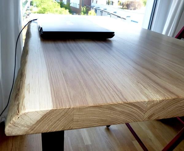 Schreibtischplatte massivholz  Schreibtischplatte, Holz, nach, Maß, Baumkante, Eiche, onlineshop ...