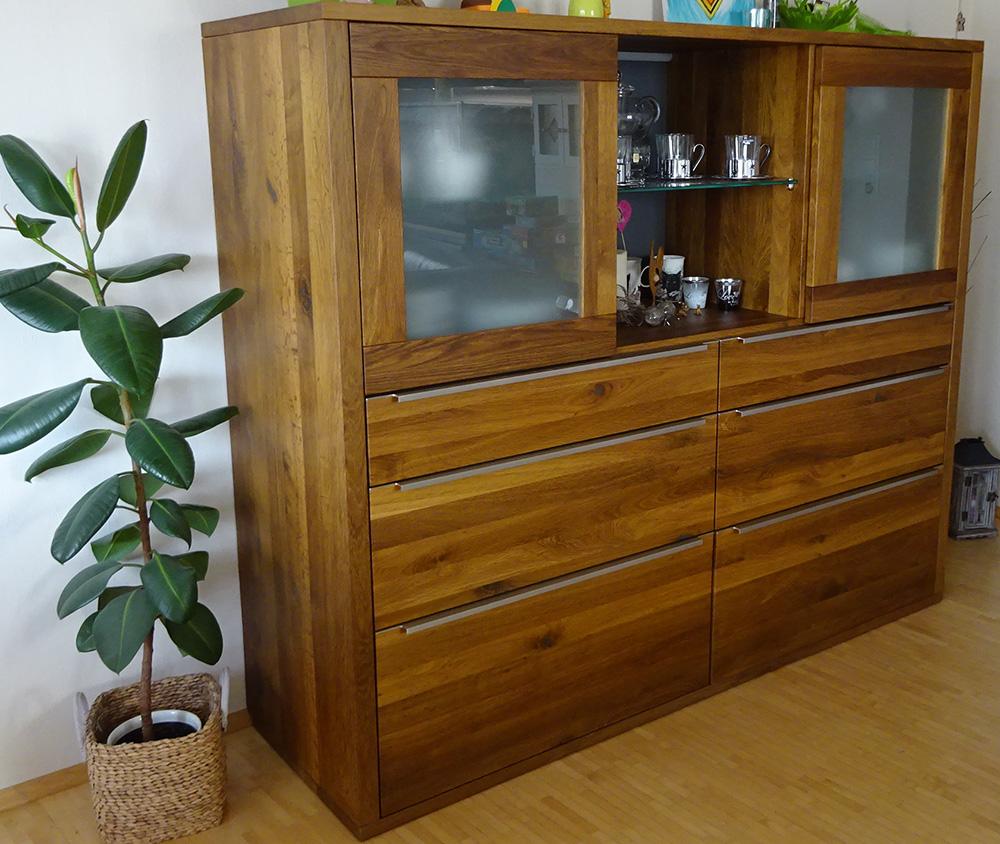 highboard aus eiche massiv. Black Bedroom Furniture Sets. Home Design Ideas
