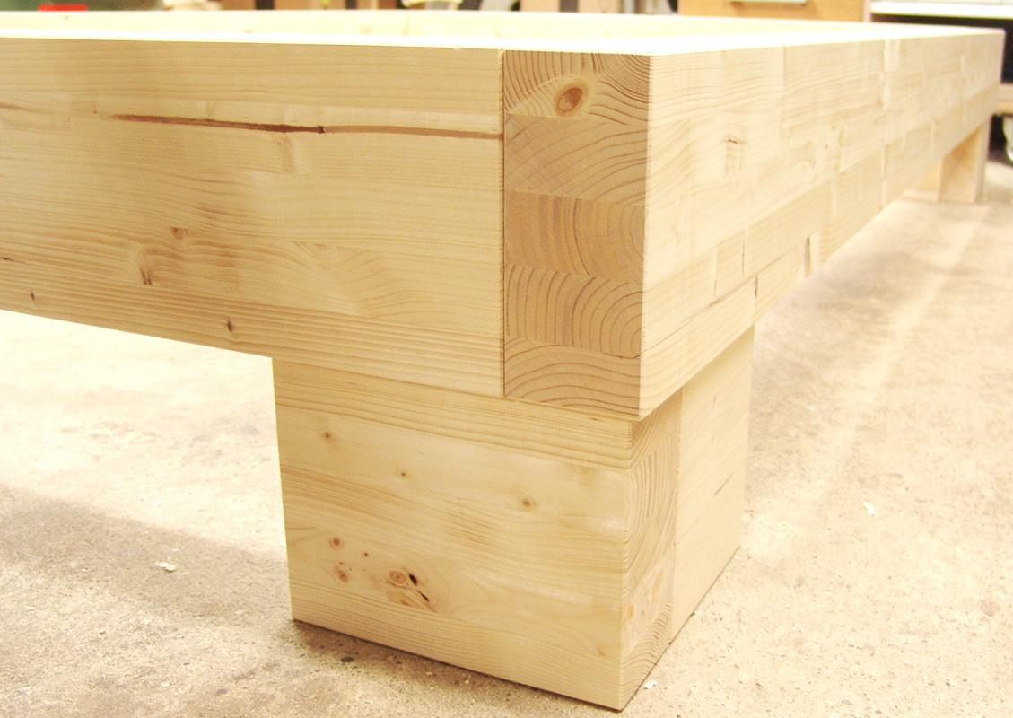 balkenbett fichte natur eiche wildeiche massiv massivholz balken baumstamm baumkante. Black Bedroom Furniture Sets. Home Design Ideas