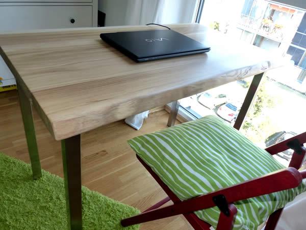 schreibtischplatte holz nach ma baumkante eiche onlineshop online bestellen kaufen. Black Bedroom Furniture Sets. Home Design Ideas